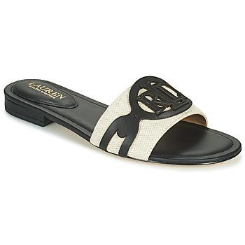 Shoes Women Mules Lauren Ralph Lauren ALEGRA Black / Beige