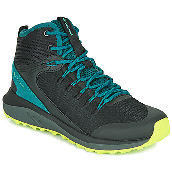 Shoes Women Hiking shoes Columbia TRAILSTORM MID WATERPROOF Black / Blue