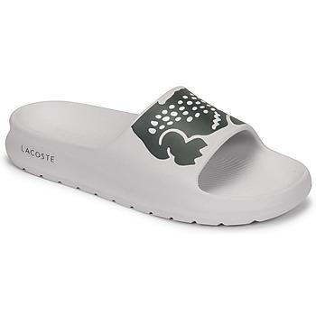 Shoes Women Sliders Lacoste CROCO 2.0 0721 1 CFA White / Black