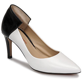 Shoes Women Court shoes Perlato 11764-VENUS-BLANC-JAMAICA-NOIR White / Black