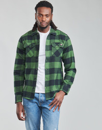material Men long-sleeved shirts Dickies NEW SACRAMENTO SHIRT PINE GREEN Kaki / Black
