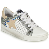 Shoes Women Low top trainers Semerdjian CARLA White / Silver / Beige