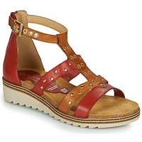 Shoes Women Sandals Dorking ESPE Red / Brown