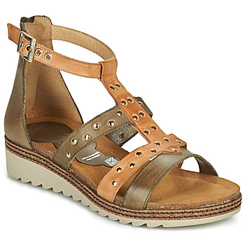 Shoes Women Sandals Dorking ESPE Kaki / Beige