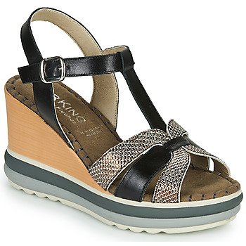 Shoes Women Sandals Dorking TOTEM Black / Bronze
