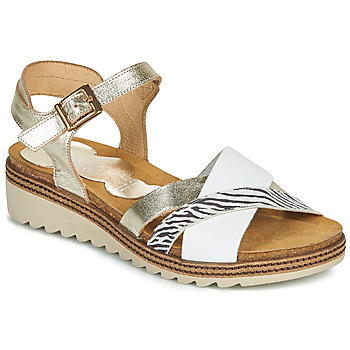 Shoes Women Sandals Dorking ESPE White / Silver