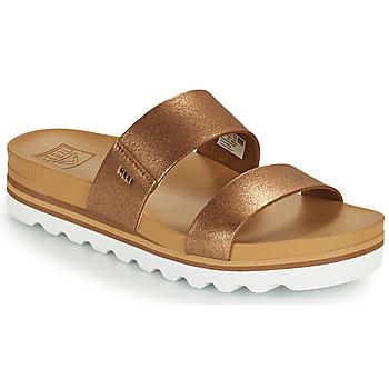 Shoes Women Sliders Reef CUSHION VISTA HI Brown