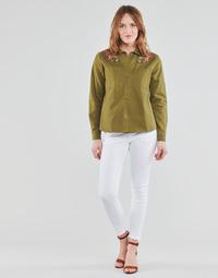 material Women 5-pocket trousers Freeman T.Porter ALEXA CROPPED S-SDM White