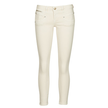 material Women 5-pocket trousers Freeman T.Porter ALEXA CROPPED NEW MAGIC COLOR Butter / Cream