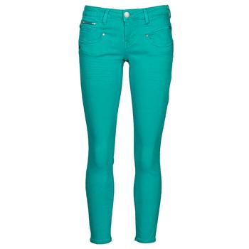 material Women 5-pocket trousers Freeman T.Porter ALEXA CROPPED NEW MAGIC COLOR Viridian / Green