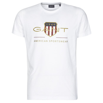 material Men short-sleeved t-shirts Gant ARCHIVE SHIELD White