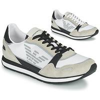 Shoes Men Low top trainers Emporio Armani EMPAGNO White
