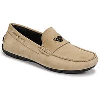 Shoes Men Loafers Emporio Armani ITOLIA Beige