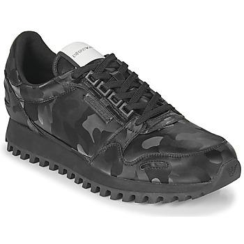 Shoes Men Low top trainers Emporio Armani AUTRIA Black