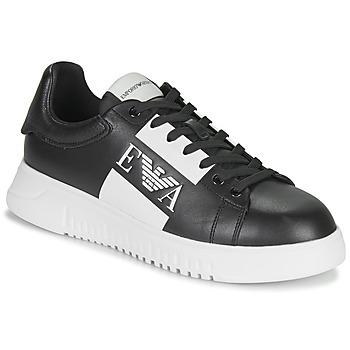 Shoes Men Low top trainers Emporio Armani MALTA Black / White