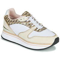 Shoes Women Low top trainers Emporio Armani BRASSIL Beige / White