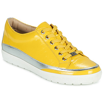 Shoes Women Low top trainers Caprice 23654-613 Yellow / Silver