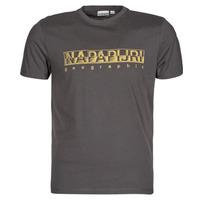 material Men short-sleeved t-shirts Napapijri SALLAR SS Grey / Dark