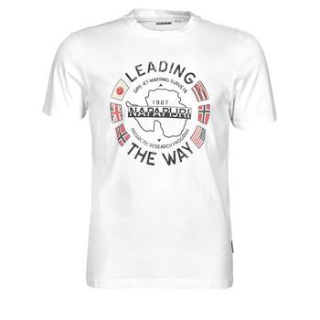 material Men short-sleeved t-shirts Napapijri SALYA White