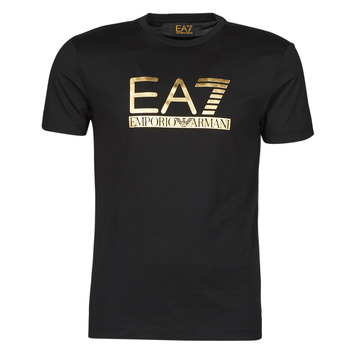material Men short-sleeved t-shirts Emporio Armani EA7 3KPT87-PJM9Z-1200 Black / Gold