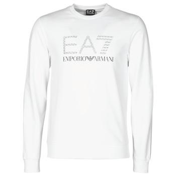 material Men sweaters Emporio Armani EA7 3KPMD7-PJ2SZ-1100 White
