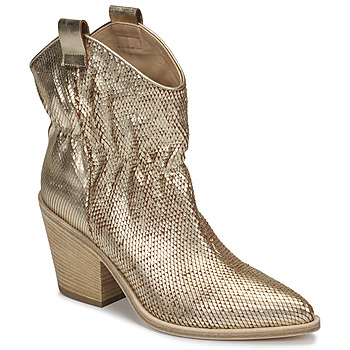Shoes Women Ankle boots Fru.it 6901-376-PLATINO Gold