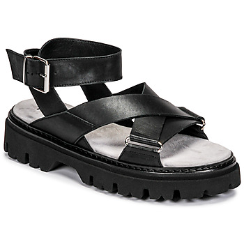 Shoes Women Sandals Fru.it 6757-100-NERO Black