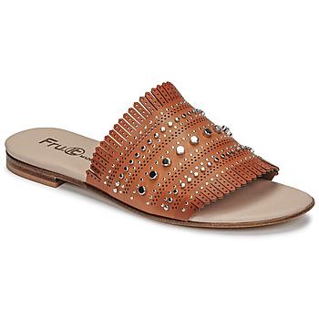 Shoes Women Mules Fru.it 6765-100-CUOIO Brown