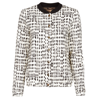 material Women Jackets / Blazers One Step MADANY Ecru / Black