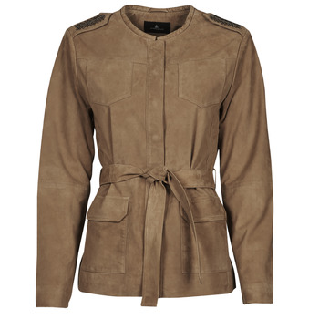 material Women Leather jackets / Imitation le One Step DITA Cognac