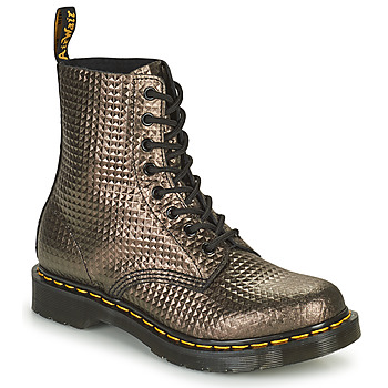 Shoes Women Mid boots Dr Martens 1460 PASCAL Taupe / Gold