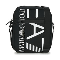 Bags Men Pouches / Clutches Emporio Armani EA7 TRAIN LOGO SERIES M POUCH BAG Black / White