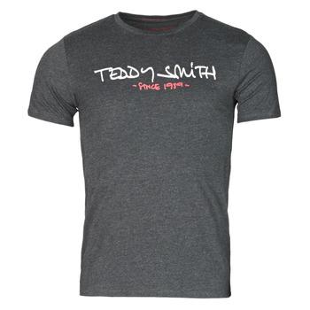 material Men short-sleeved t-shirts Teddy Smith TICLASS Grey / Dark