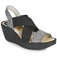 Shoes Women Sandals Fly London YAJI Black / White