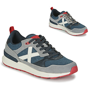 Shoes Men Low top trainers Munich ALPHA 51 Grey / Blue