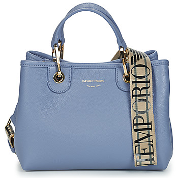 Bags Women Handbags Emporio Armani BORSA SHOPPING Blue / Brown
