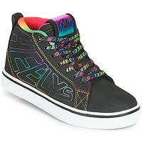 Shoes Girl Wheeled shoes Heelys RACER 20 MID Black / Multicolour