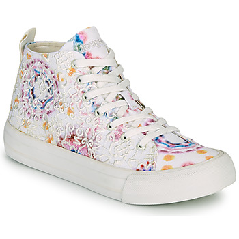 Shoes Women High top trainers Desigual BETA LACE TIE DYE White