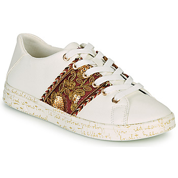 Shoes Women Low top trainers Desigual COSMIC EXOTIC LETTERING White