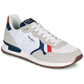 Shoes Men Low top trainers Pepe jeans BRITT MAN BASIC White / Beige