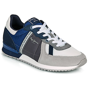 Shoes Men Low top trainers Pepe jeans TINKER ZERO 21 Grey / Blue