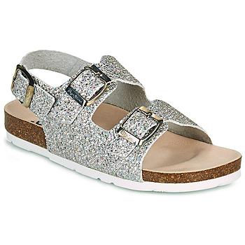 Shoes Girl Sandals Pepe jeans BIO BASIC GLITTER Silver / Glitter