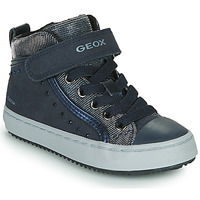 Shoes Girl High top trainers Geox J KALISPERA FILLE Blue
