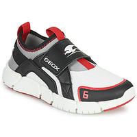 Shoes Boy Low top trainers Geox J FLEXYPER D BOY White / Black