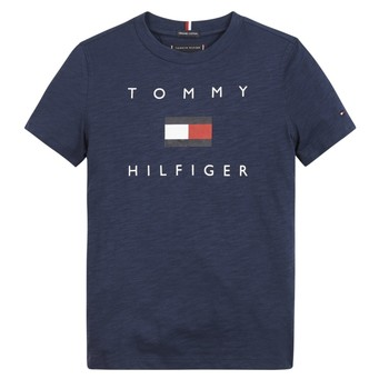 material Boy short-sleeved t-shirts Tommy Hilfiger FROUI Marine