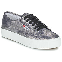 Shoes Women Low top trainers Superga 2730 LAMEW Silver