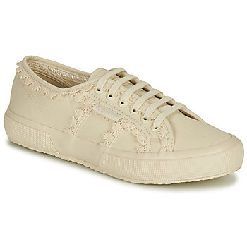 Shoes Women Low top trainers Superga 2750 COTW LACEPIPING Beige