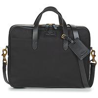 Bags Men Briefcases Polo Ralph Lauren COMMUTER-BUSINESS CASE-CANVAS Black