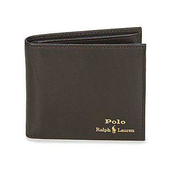 Bags Men Wallets Polo Ralph Lauren GLD FL BFC-WALLET-SMOOTH LEATHER Black