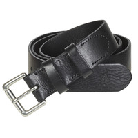 Clothes accessories Men Belts Polo Ralph Lauren OFFC PLQ RLR-CASUAL-SMOOTH LEATHER Black